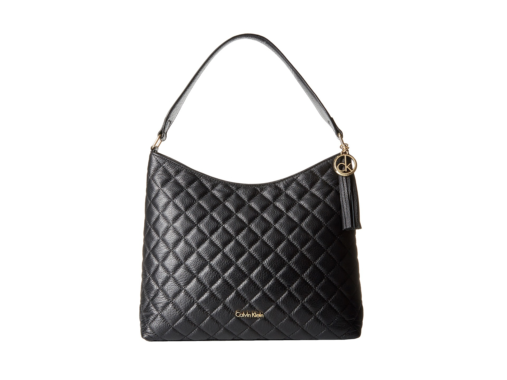 Calvin klein Quilted Pebble Hobo in Black | Lyst : calvin klein quilted purse - Adamdwight.com