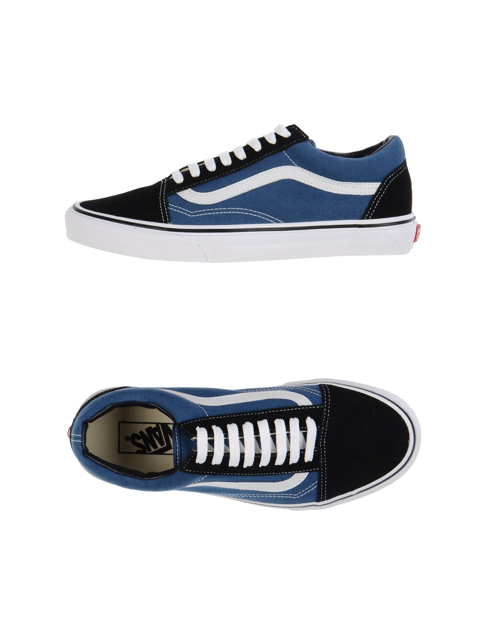 lyst vans low tops trainers in gray for men. Black Bedroom Furniture Sets. Home Design Ideas
