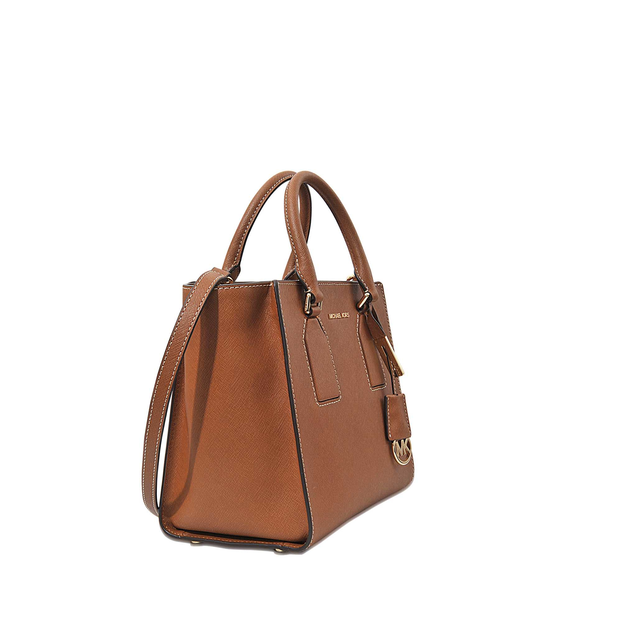 02935b1a313d Lyst - MICHAEL Michael Kors Selby Medium Satchel in Brown