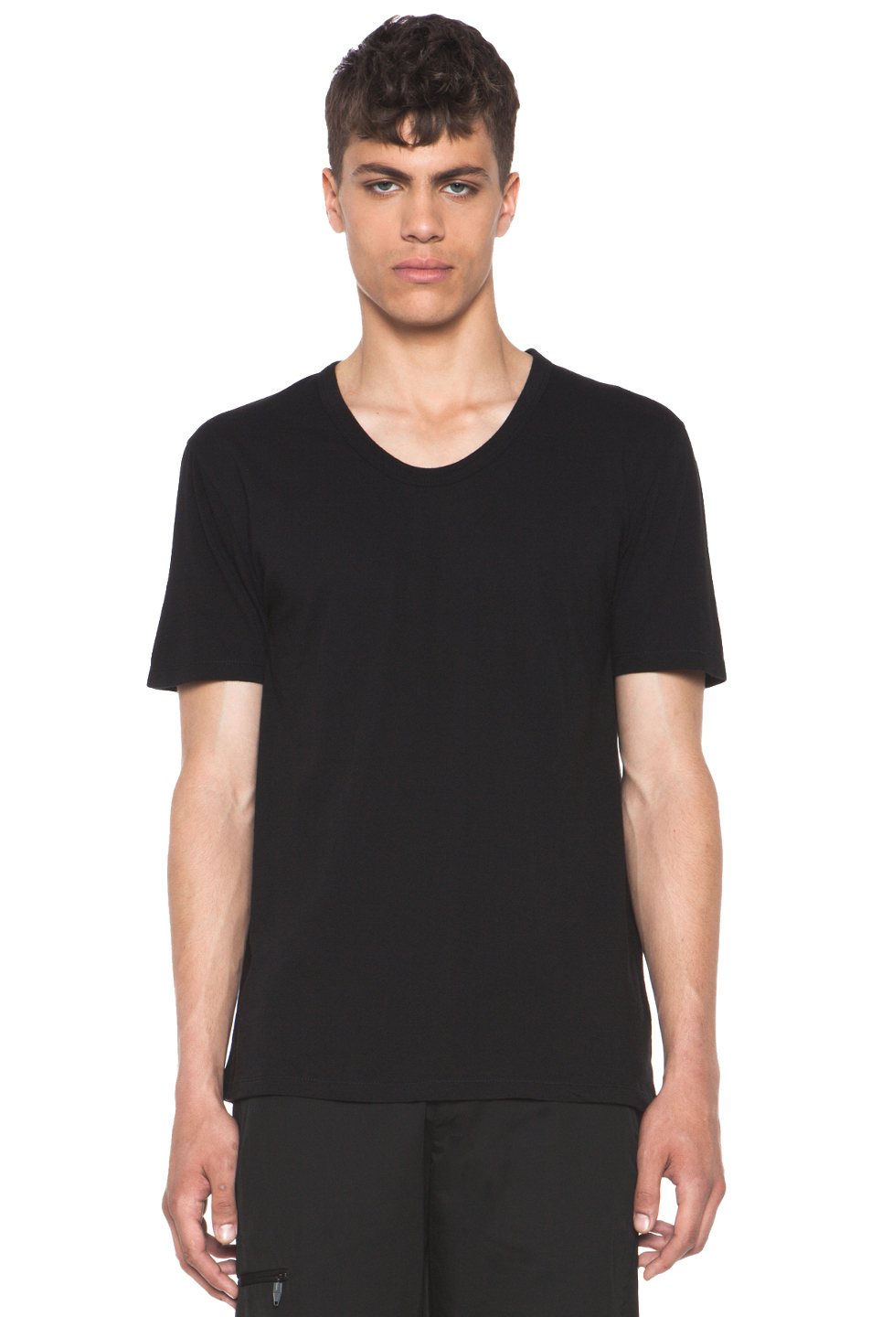 T by alexander wang mens classic low neck tee in black for for Alexander wang t shirts