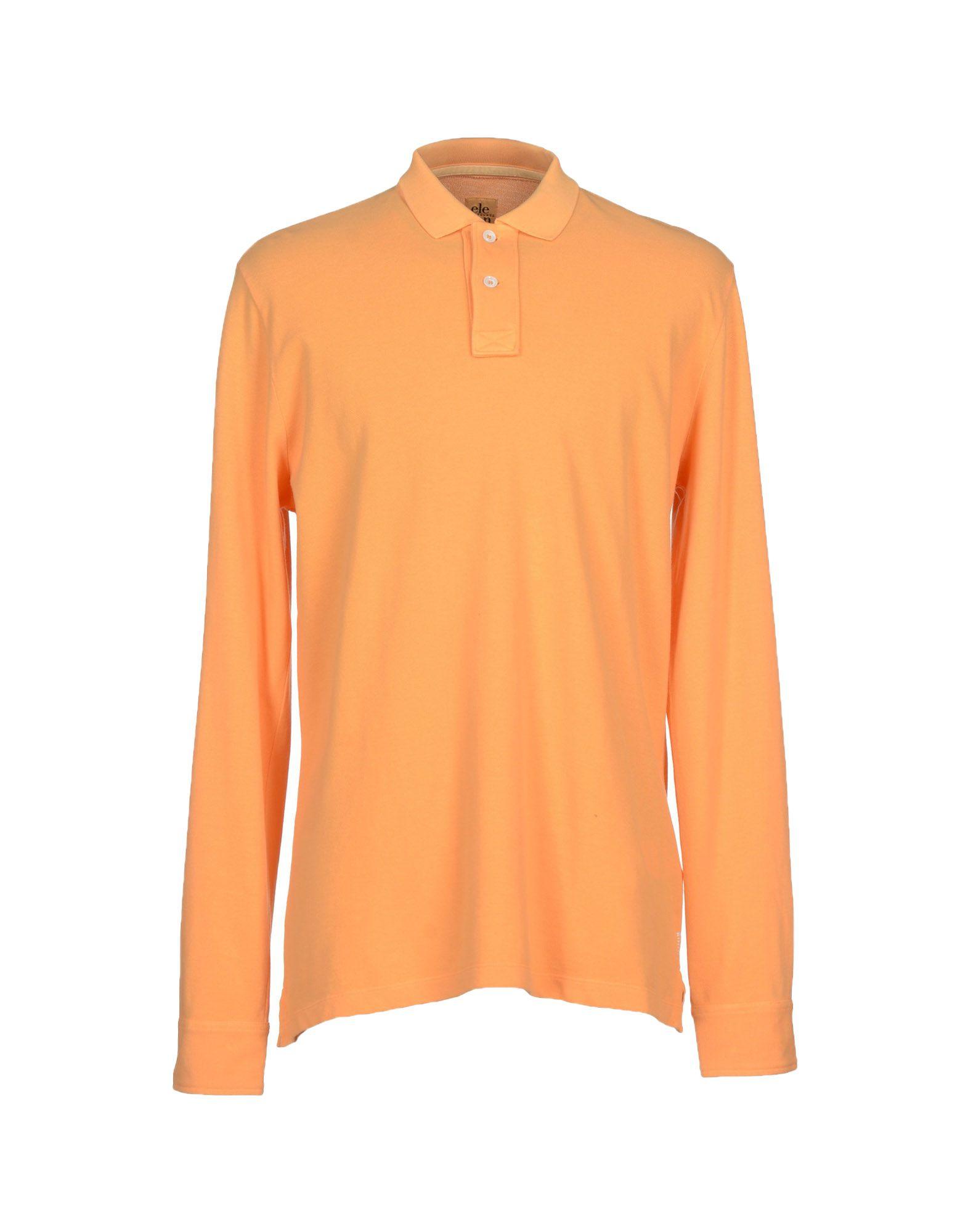 Eleventy polo shirt in orange for men apricot save 62 for Orange polo shirt mens