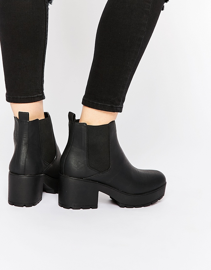 Asos Rook Chunky Chelsea Ankle Boots In Black Lyst
