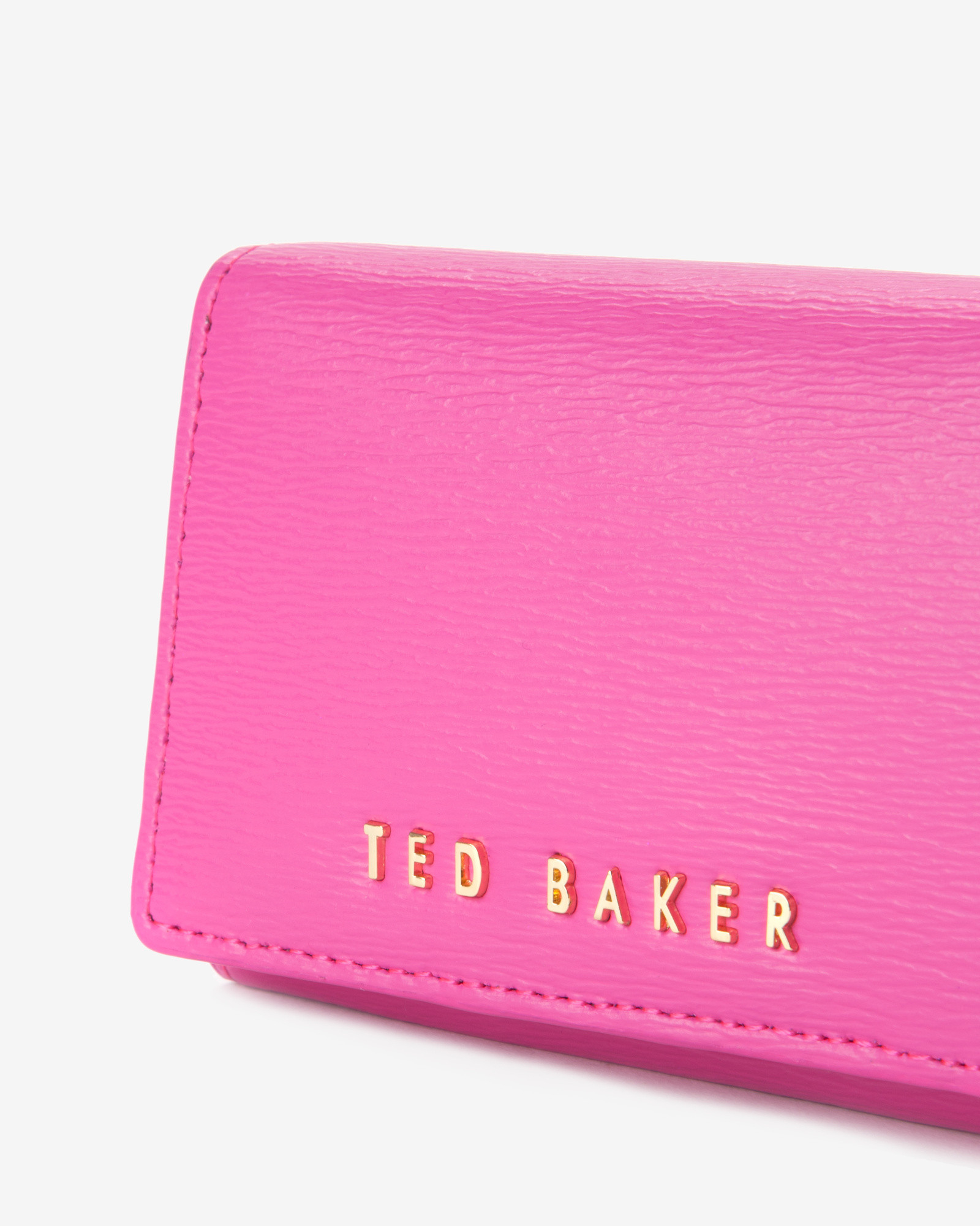 3b0a45f61223d6 Ted Baker Small Crosshatch Purse in Pink - Lyst