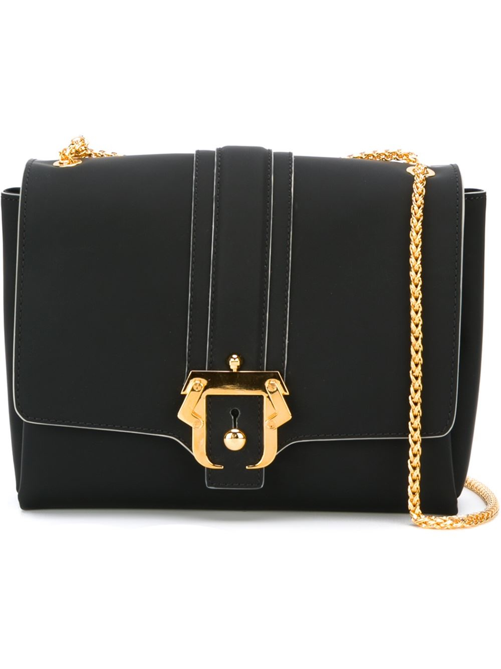 buckle detail shoulder bag - Black Paula Cademartori H6kdNdUuC3