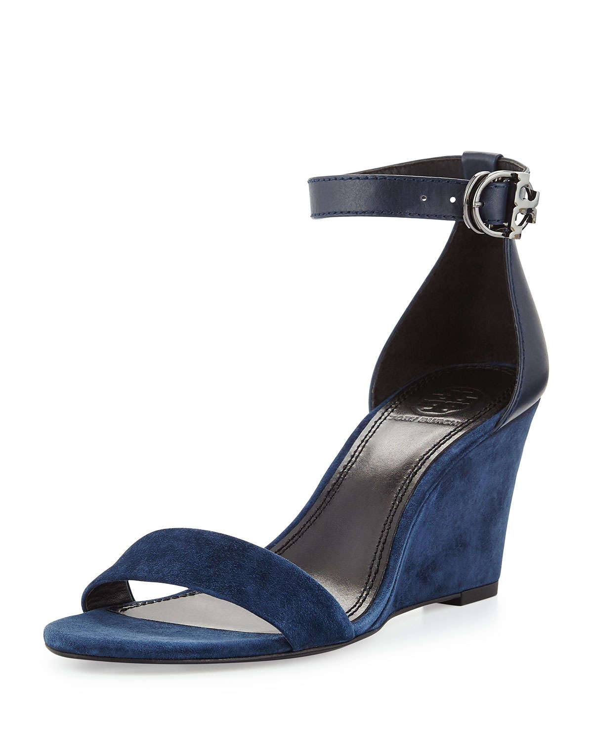 f6153c706a5 Lyst - Tory Burch Thames Suede Wedge Sandal in Blue