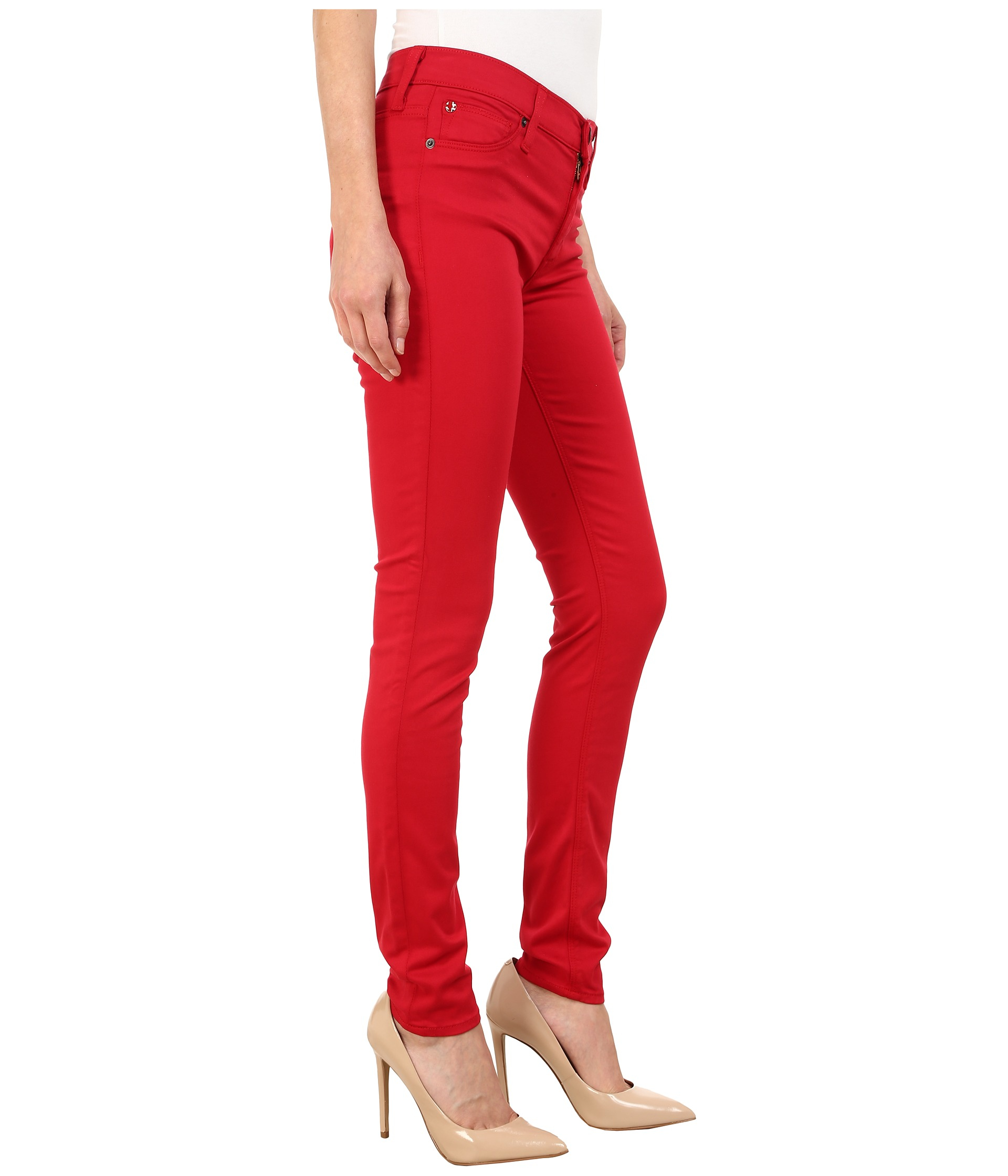 Hudson jeans Nico Mid-rise Super Skinny In California Ruby in Red ...
