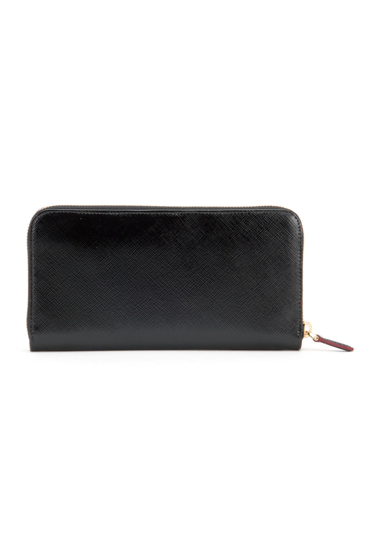 Prada Patent Saffiano Wallet in Black (NERO R) | Lyst