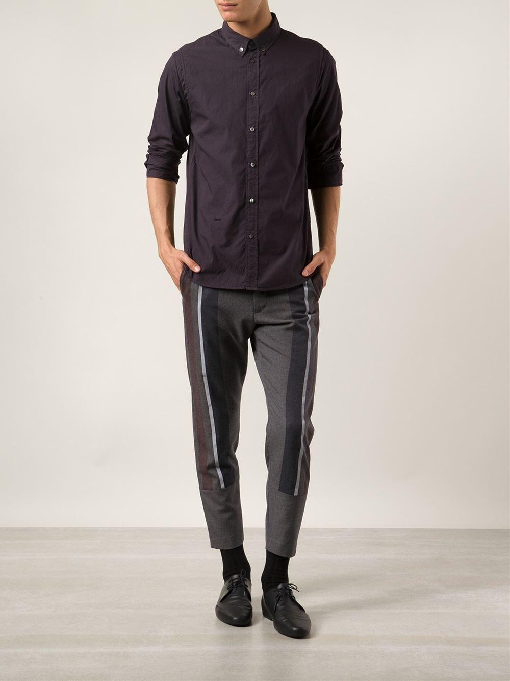 robert geller short trousers in gray for men lyst