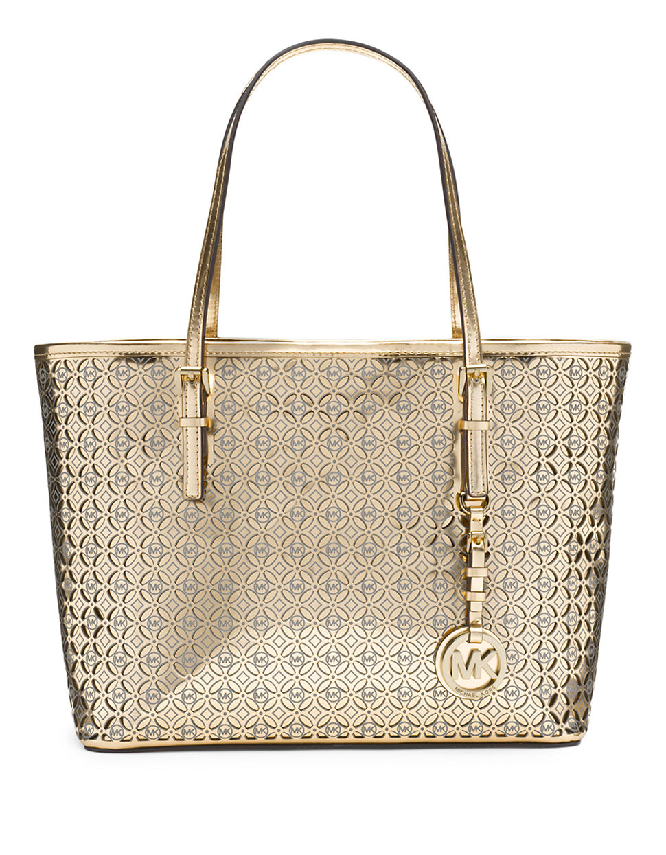 michael michael kors perforated leather floral small