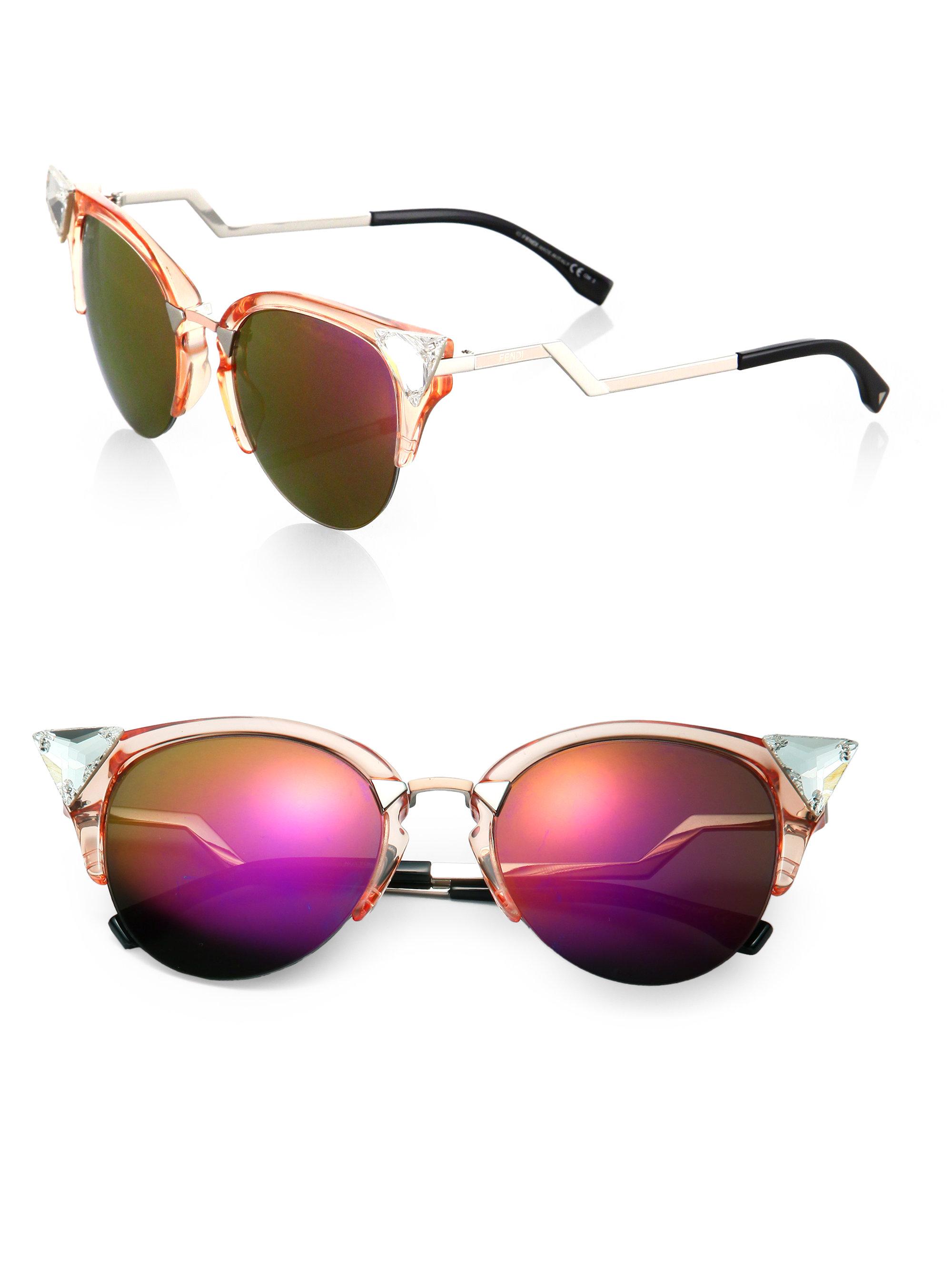 Peach Cat Eye Sunglasses