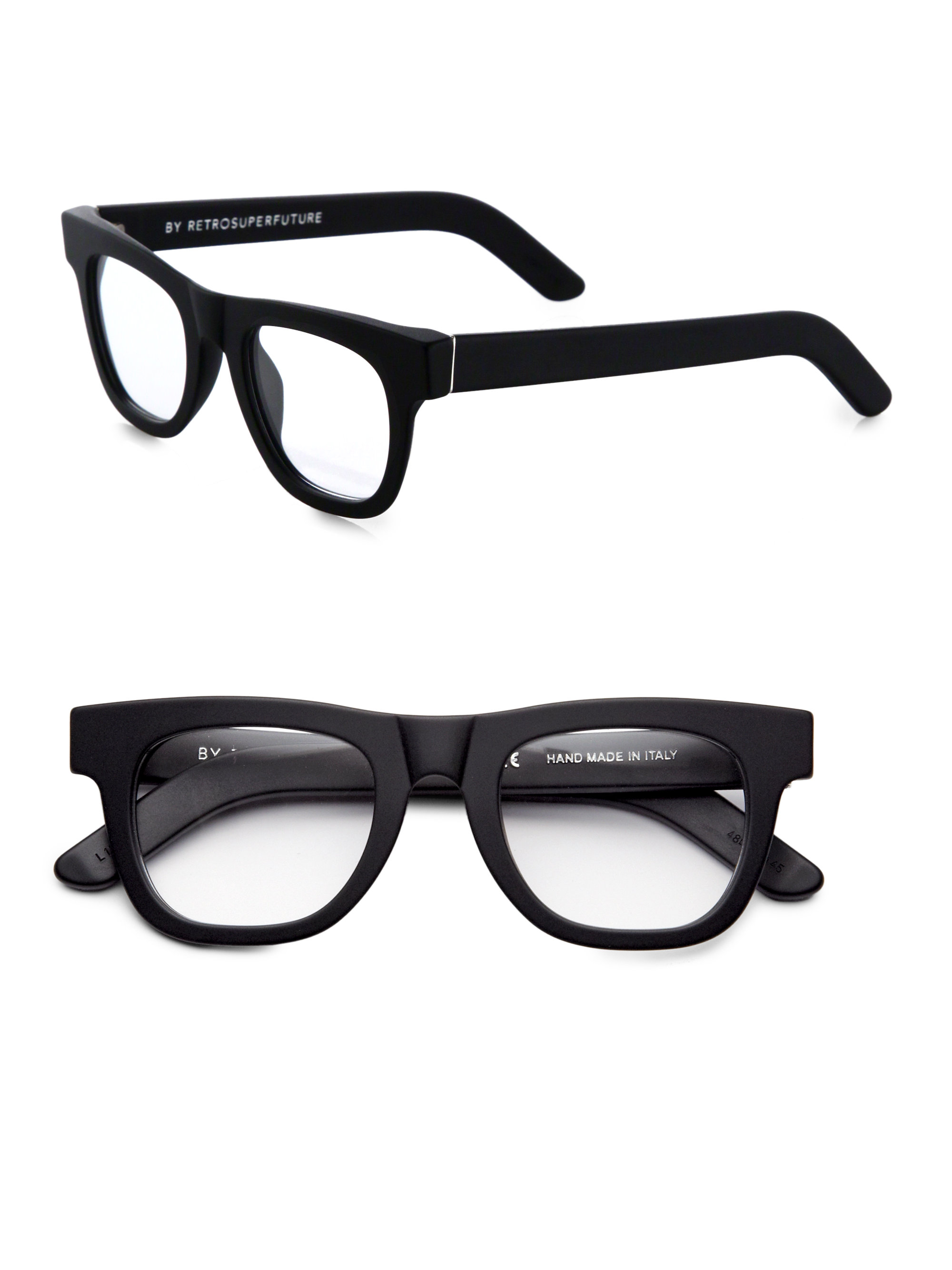 56570ded932 Lyst - Retrosuperfuture Matte Optical Ciccio Eyeglasses in Black for Men