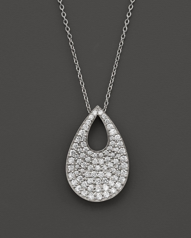 Roberto Coin 18k White Gold Diamond Teardrop Pendant