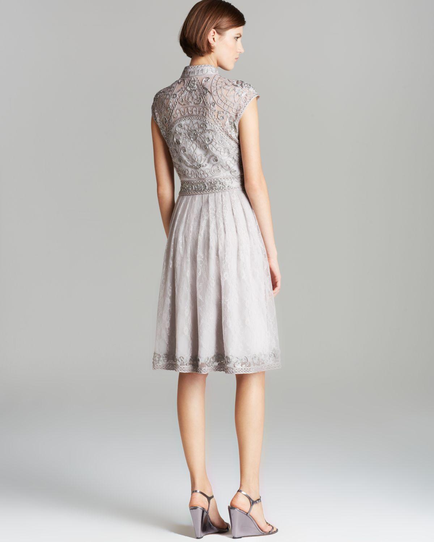 Lyst Sue Wong Dress High Neck Mandarin Collar Lace Fit