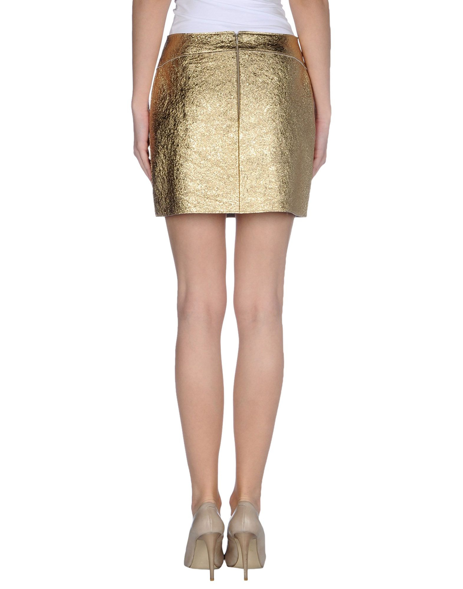 3 1 phillip lim leather skirt in yellow lyst