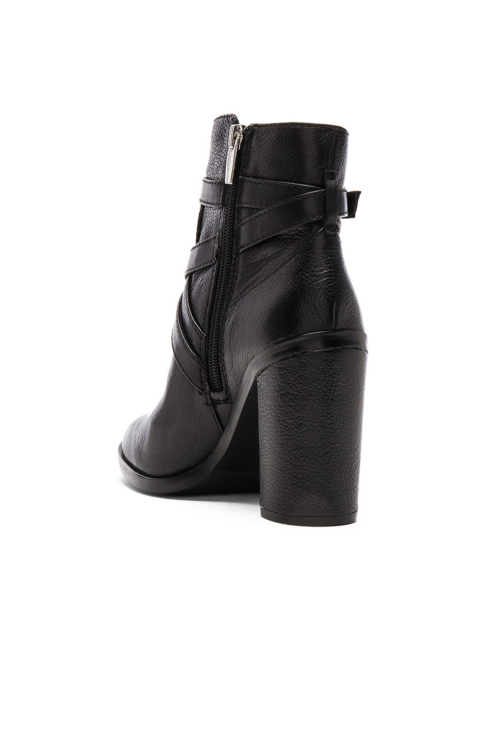 vince camuto gravell leather ankle boots in black lyst