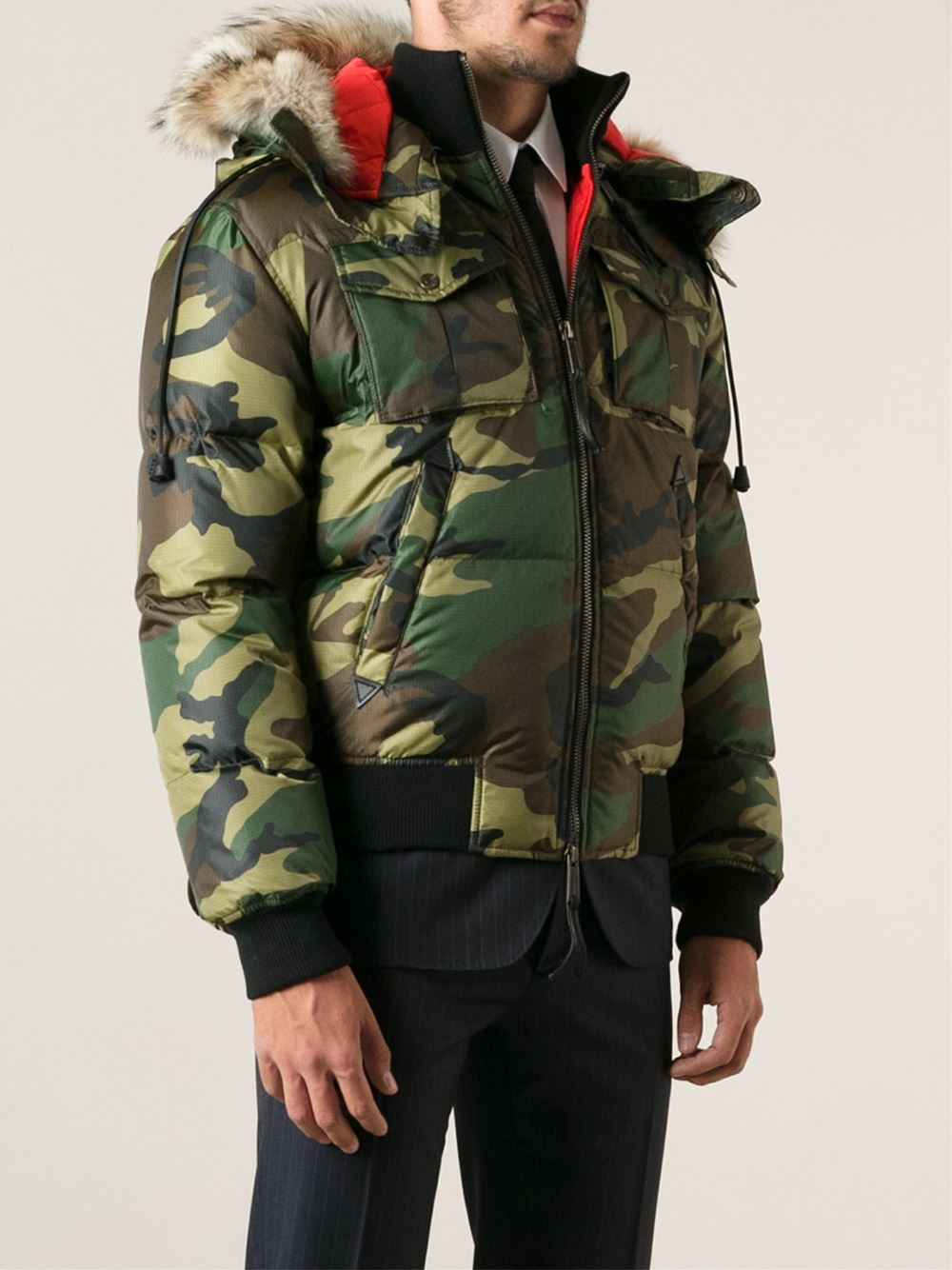 dsquared2 camo jacket
