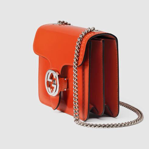 ae4bd27b190b47 Gucci Gucci Interlocking Leather Bag in Orange - Lyst
