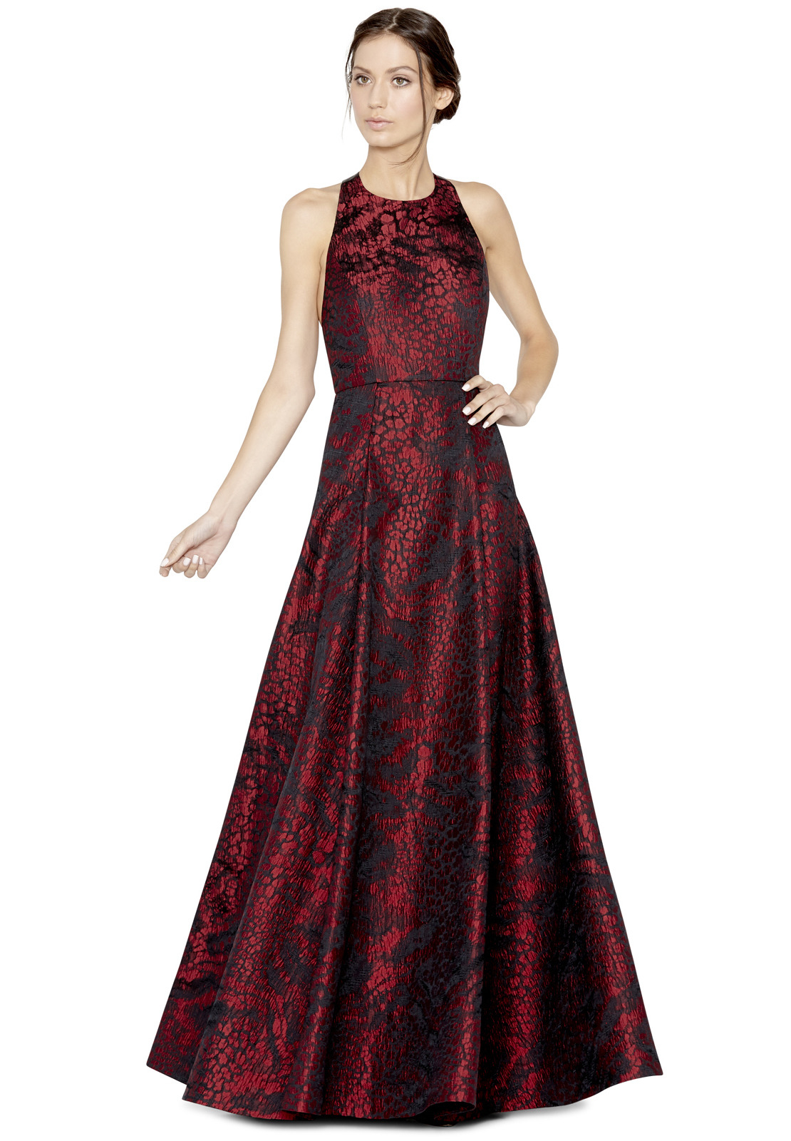 Lyst - Alice + Olivia Teifer Leather T-back Gown in Red