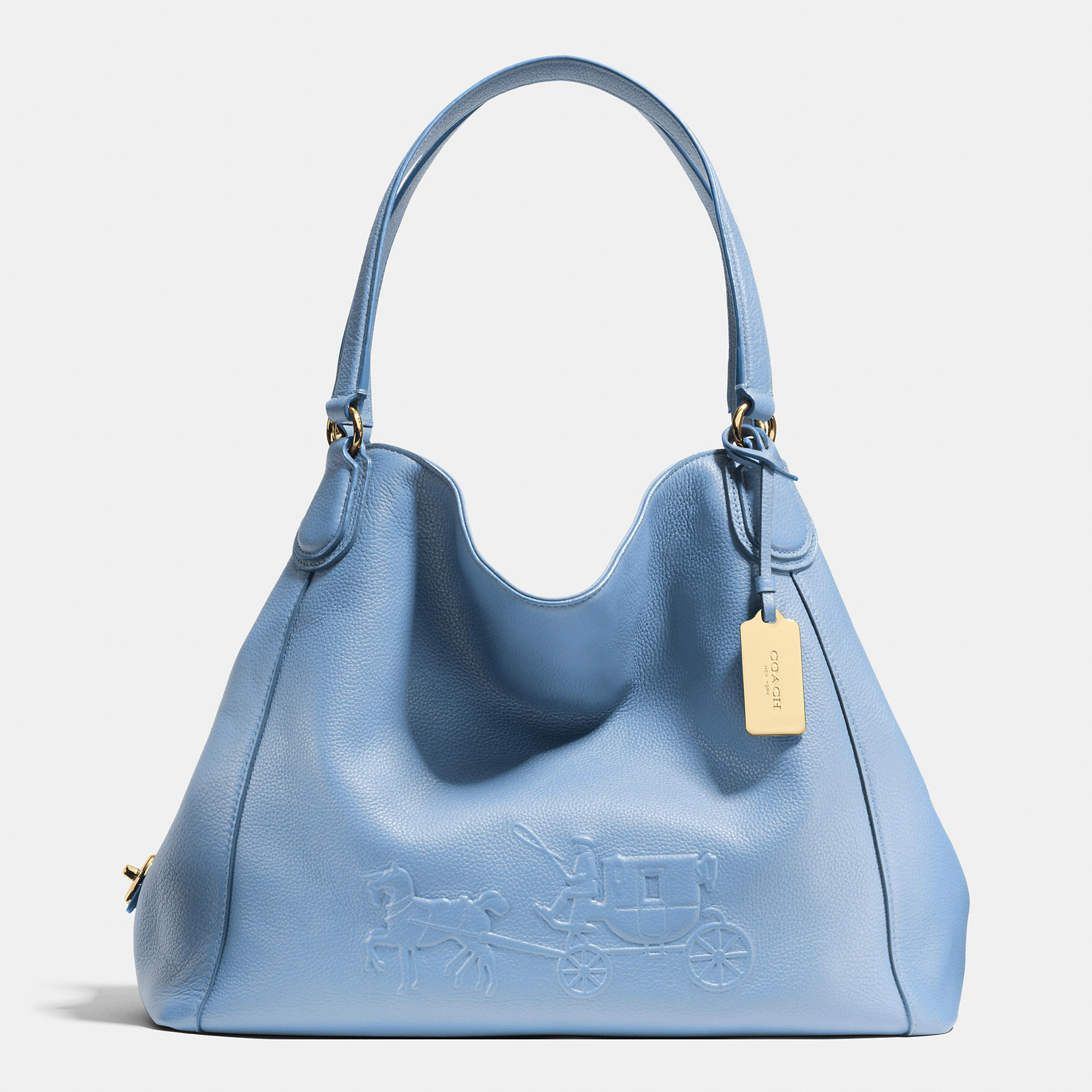 Lyst Coach Embossed Horse And Carriage Edie Shoulder Bag