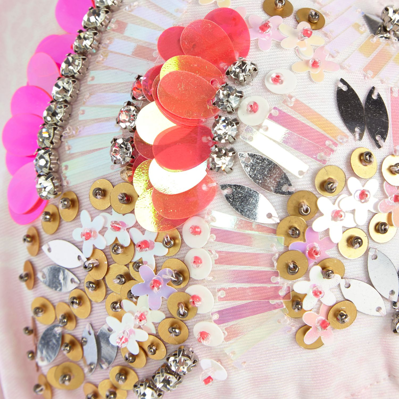5a26671692 River Island Pink Embellished Triangle Bikini Top in Pink - Lyst