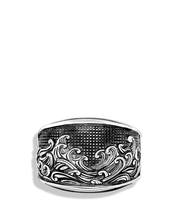 Lyst david yurman waves three sided ring in metallic for men for David yurman inspired jewelry rings