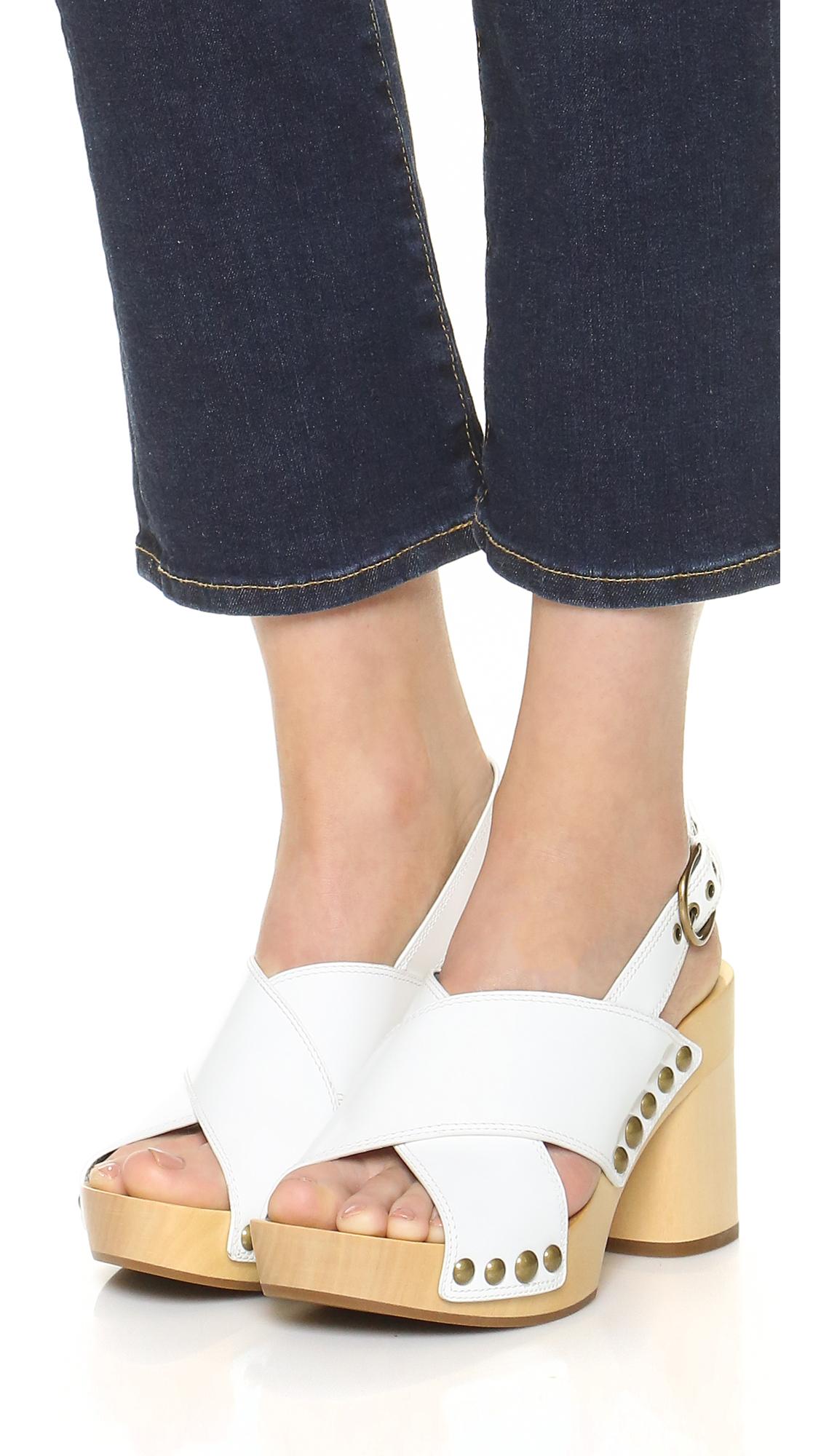 905bff9d877c Lyst - Marc Jacobs Linda Crisscross Sandal Clogs in White