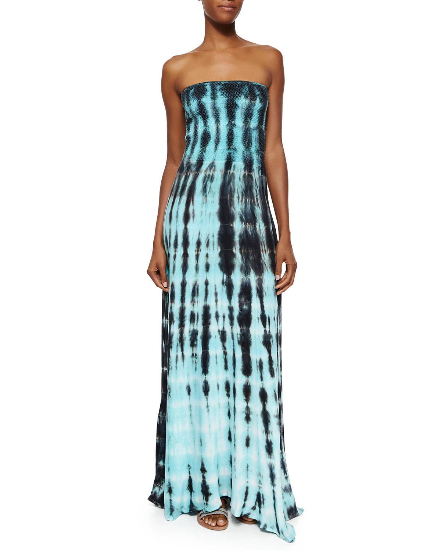 Young fabulous & broke Strapless Tie-dye Maxi Dress in ...