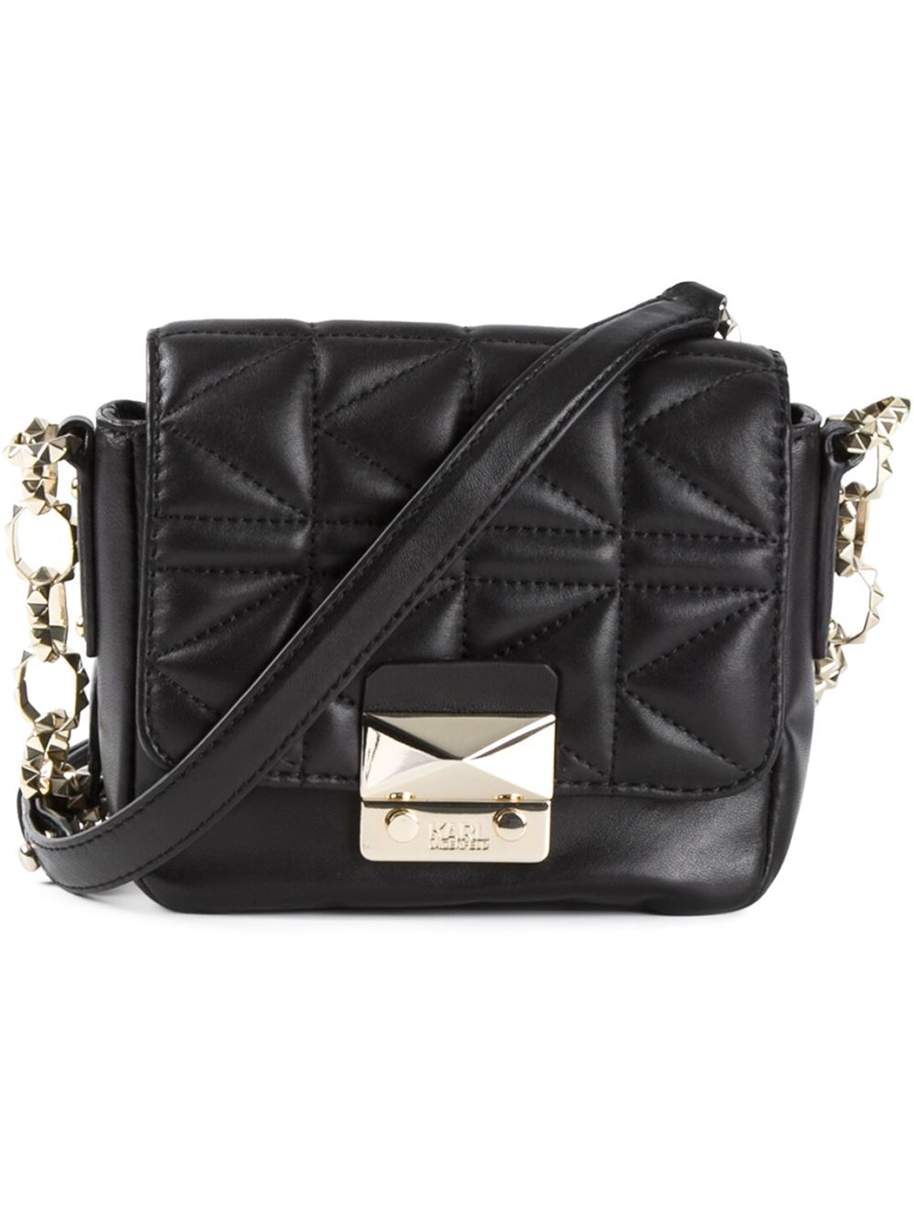 6f3deff8a8 Karl Lagerfeld Quilted Cross Body Bag in Black - Lyst