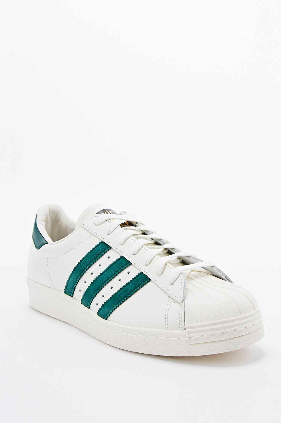 pretty nice 6471f 6eb7b Adidas Superstar 80S Trainers In White And Green in White for Men - Lyst