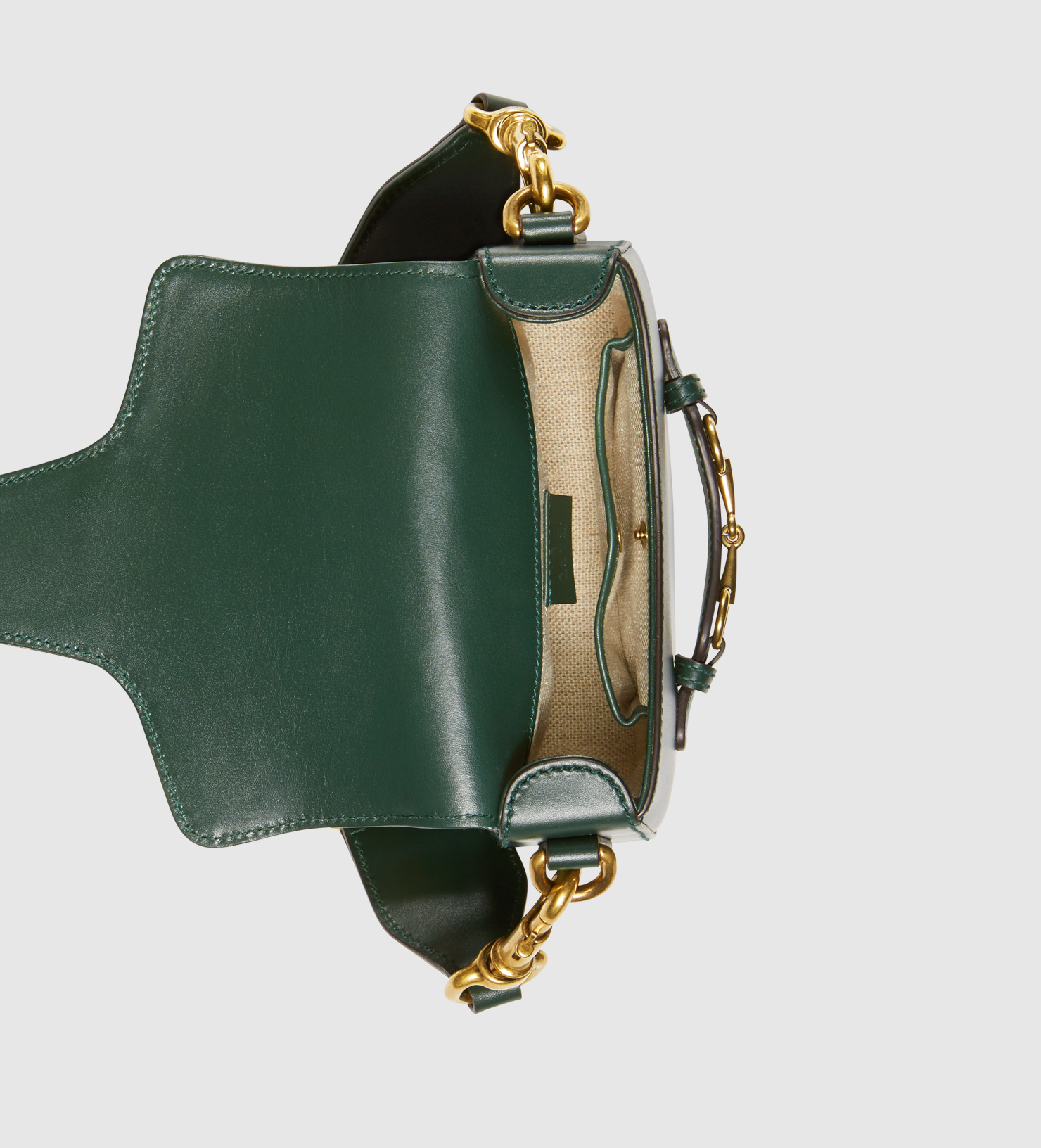 6f499d8a3f Gucci Lady Web Leather Shoulder Bag in Green - Lyst