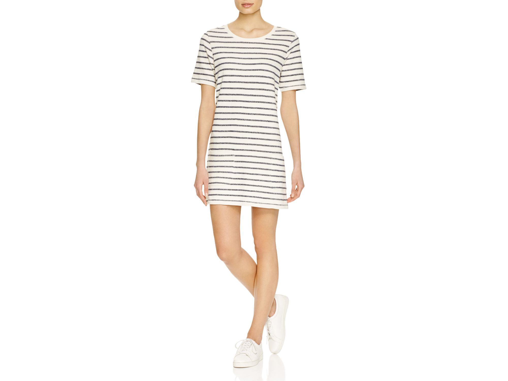 French Connection Normandy Stripe T Shirt Dress In Blue Lyst