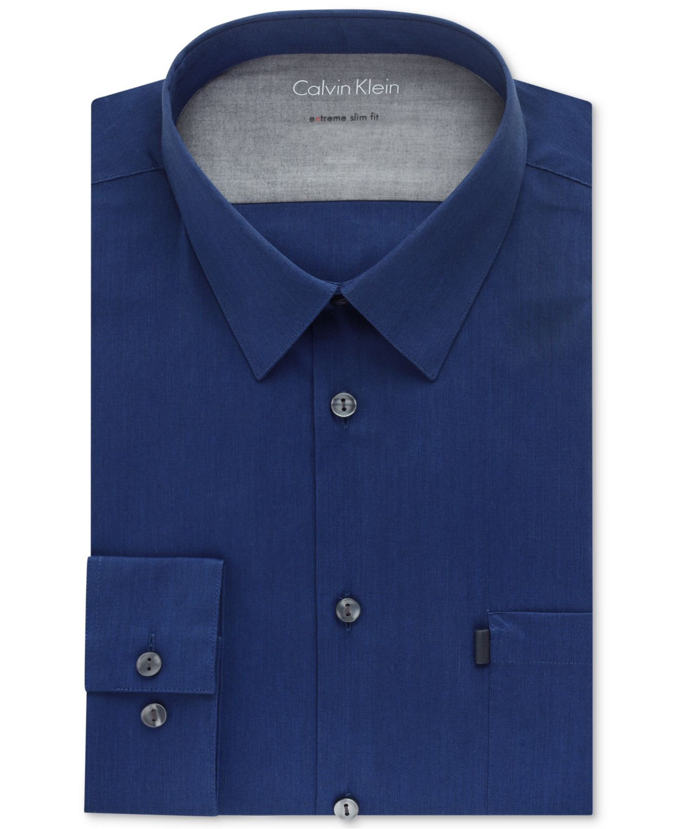 Lyst calvin klein x extra slim fit stretch solid dress for Calvin klein x fit dress shirt