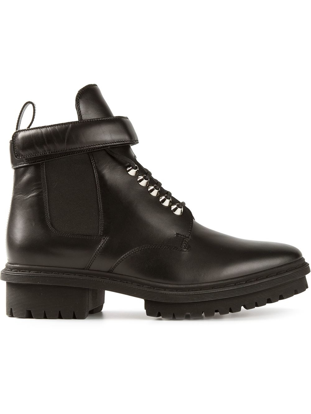 Lyst - Balenciaga Lace Up Boots In Black For Men