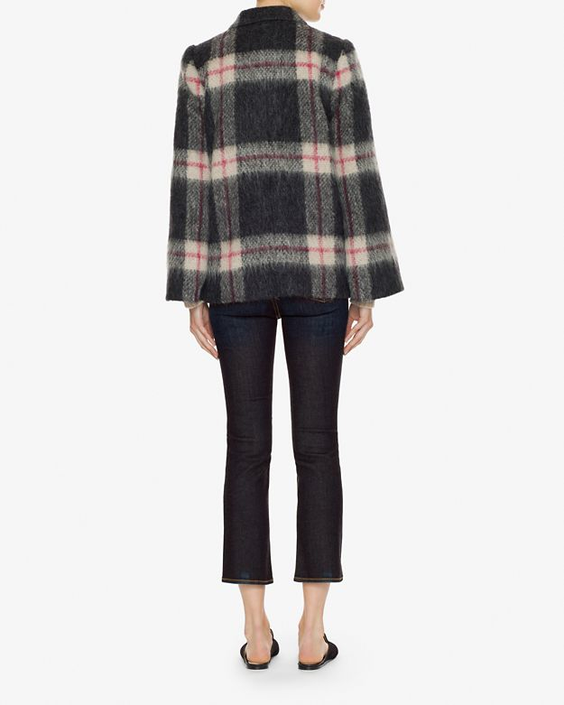 lyst sonia by sonia rykiel plaid double breasted poncho. Black Bedroom Furniture Sets. Home Design Ideas
