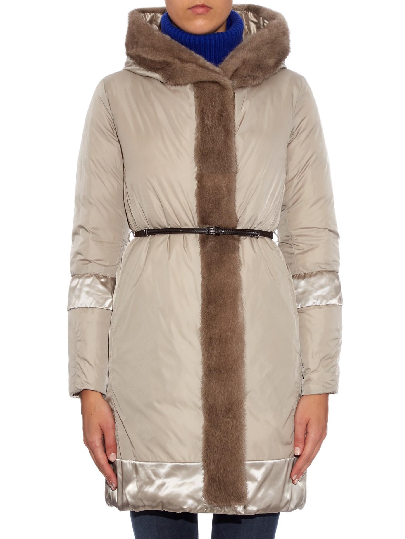 Lyst S Max Mara Cube Noveuu Reversible Coat In Natural