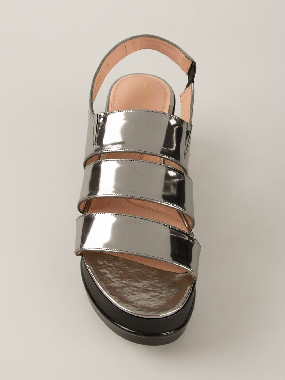 Lyst Robert Clergerie Platform Sandals In Metallic