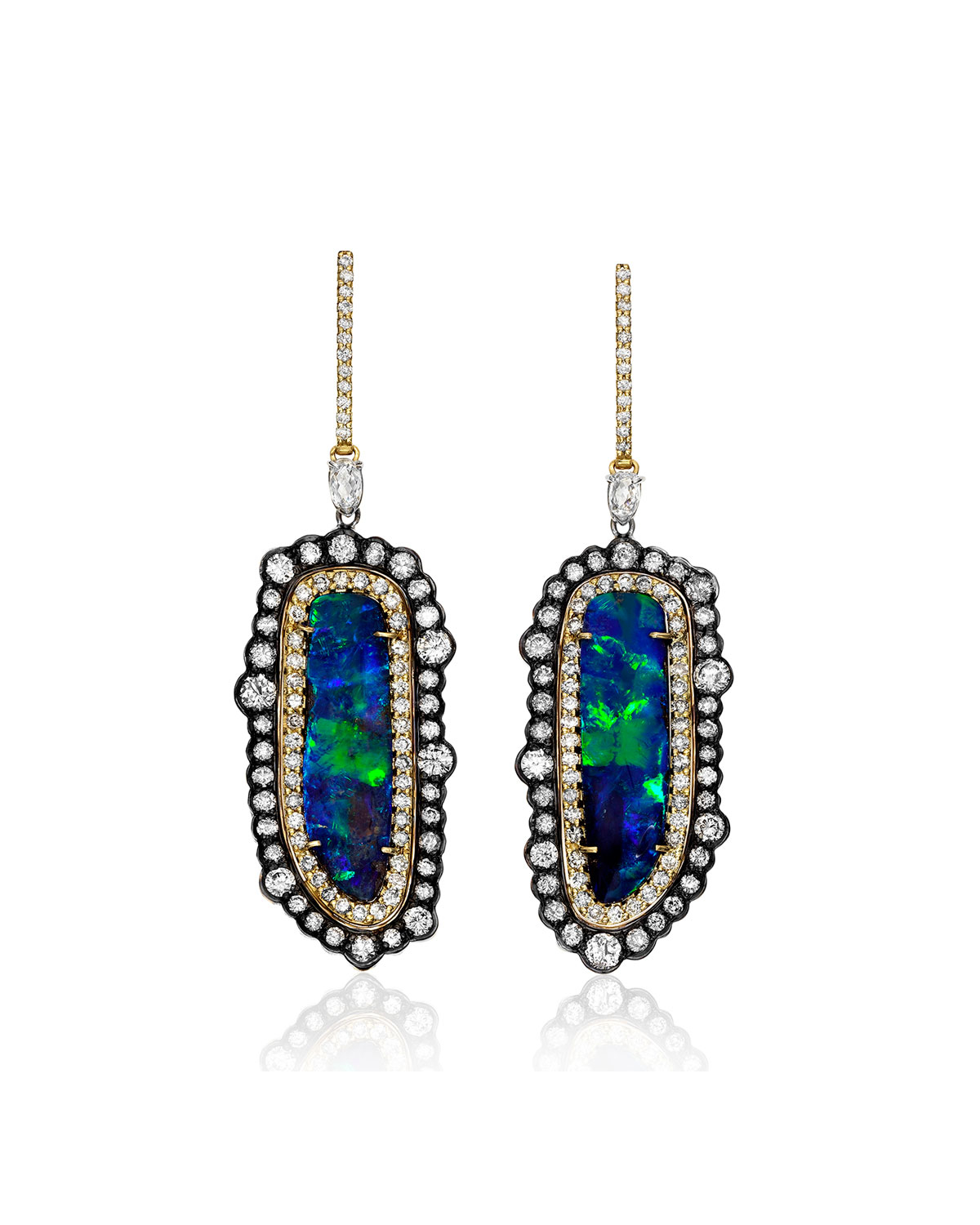 Lyst - Kimberly Mcdonald Boulder Opal & Mixed Diamond Earrings in Blue