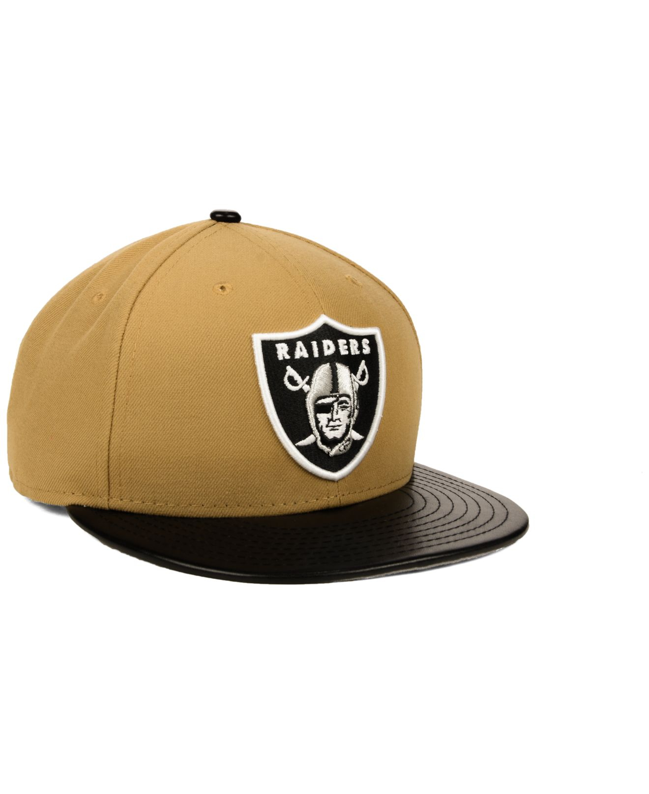 Lyst - KTZ Oakland Raiders Faux-Leather Wheat 9Fifty Snapback Cap in ... 26f048a46