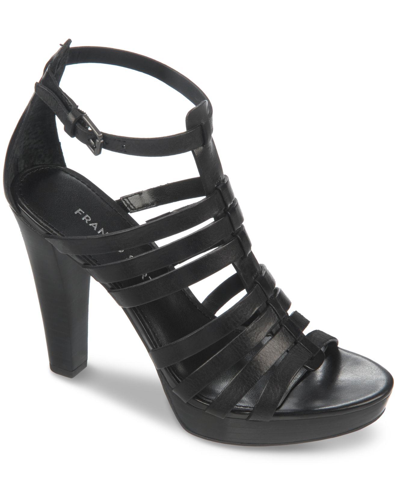 0f76221d997 Lyst - Franco Sarto Bauble Platform Gladiator Sandals in Black