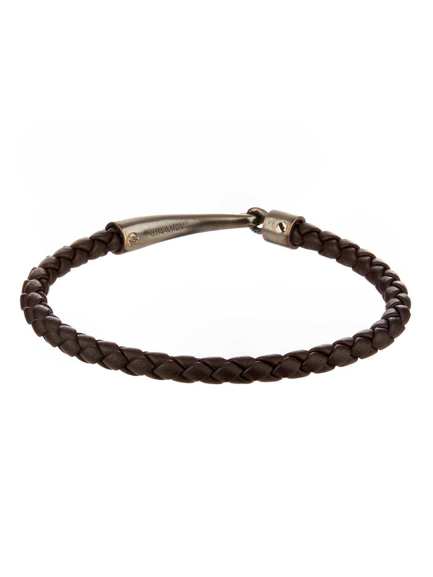 Lyst Bottega Veneta Intrecciato Leather Bracelet In