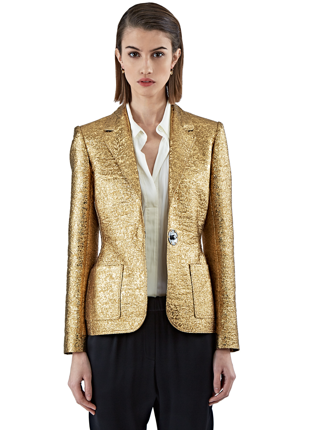 Lanvin Metallic (grey) Blazer in Metallic | Lyst