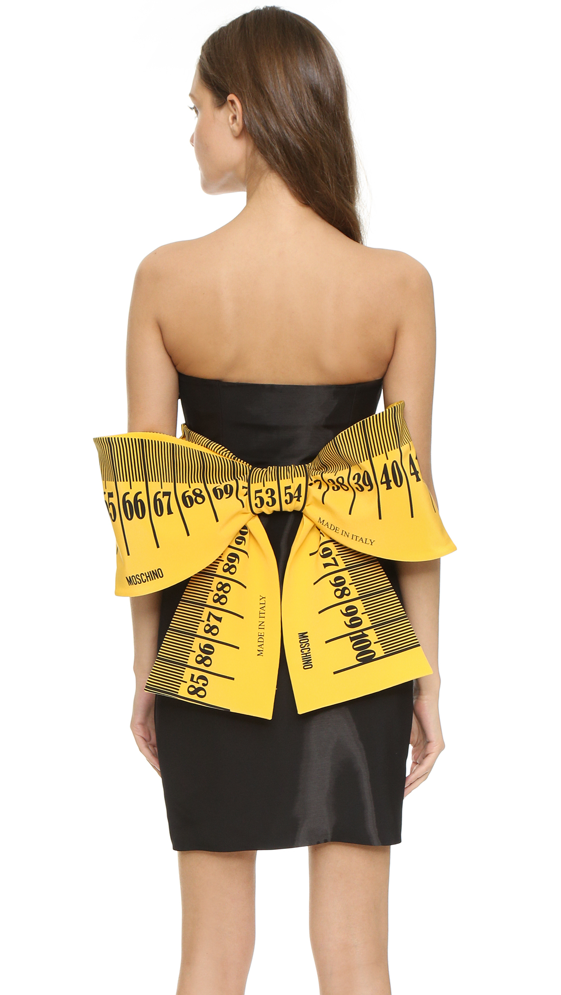 lyst moschino measuring tape dress black in black
