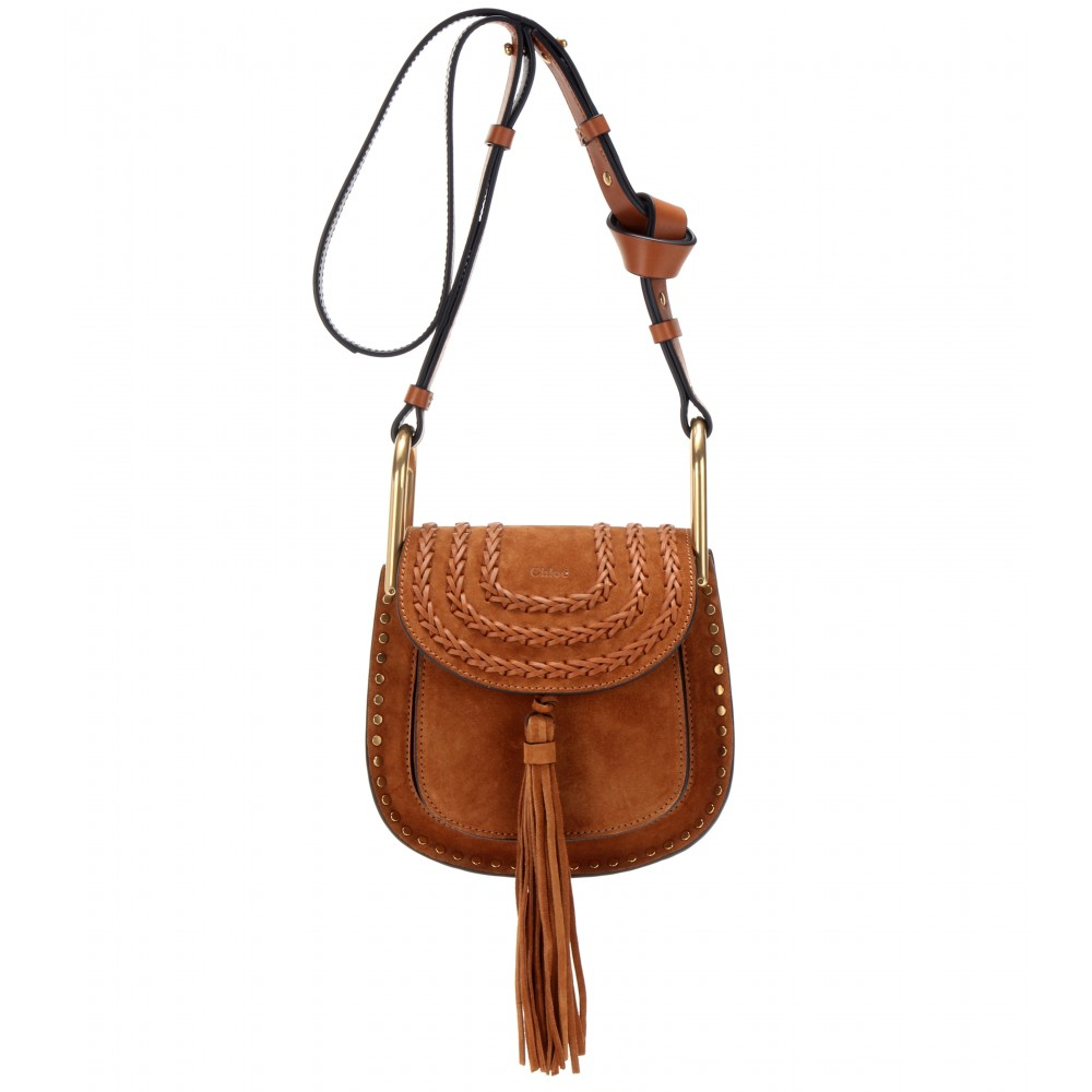 Chloé Hudson Small Suede Shoulder Bag in Brown | Lyst