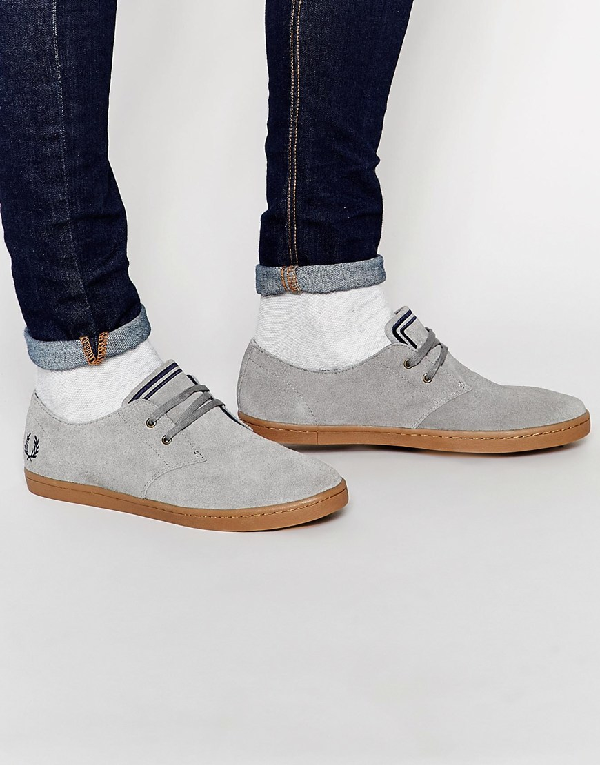 2f69e612a639fa Lyst - Fred Perry Byron Low Suede Sneakers - Grey in Brown for Men