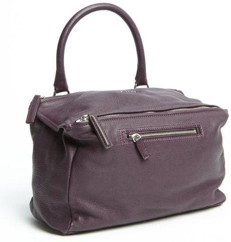 Givenchy Purple Leather Zipper Detail Medium Pandora One
