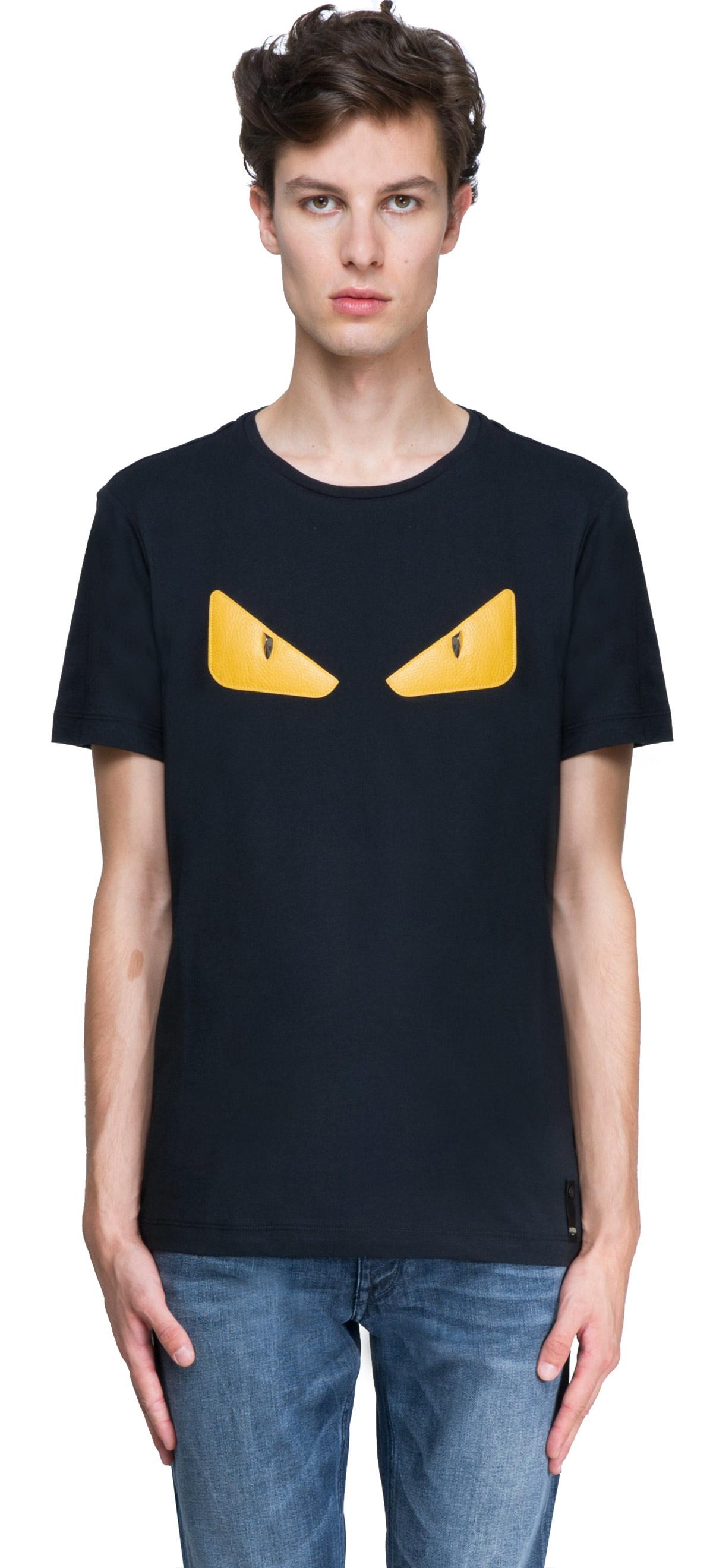 5b7d69bf6f76 Lyst - Fendi Monster T-shirt in Black for Men