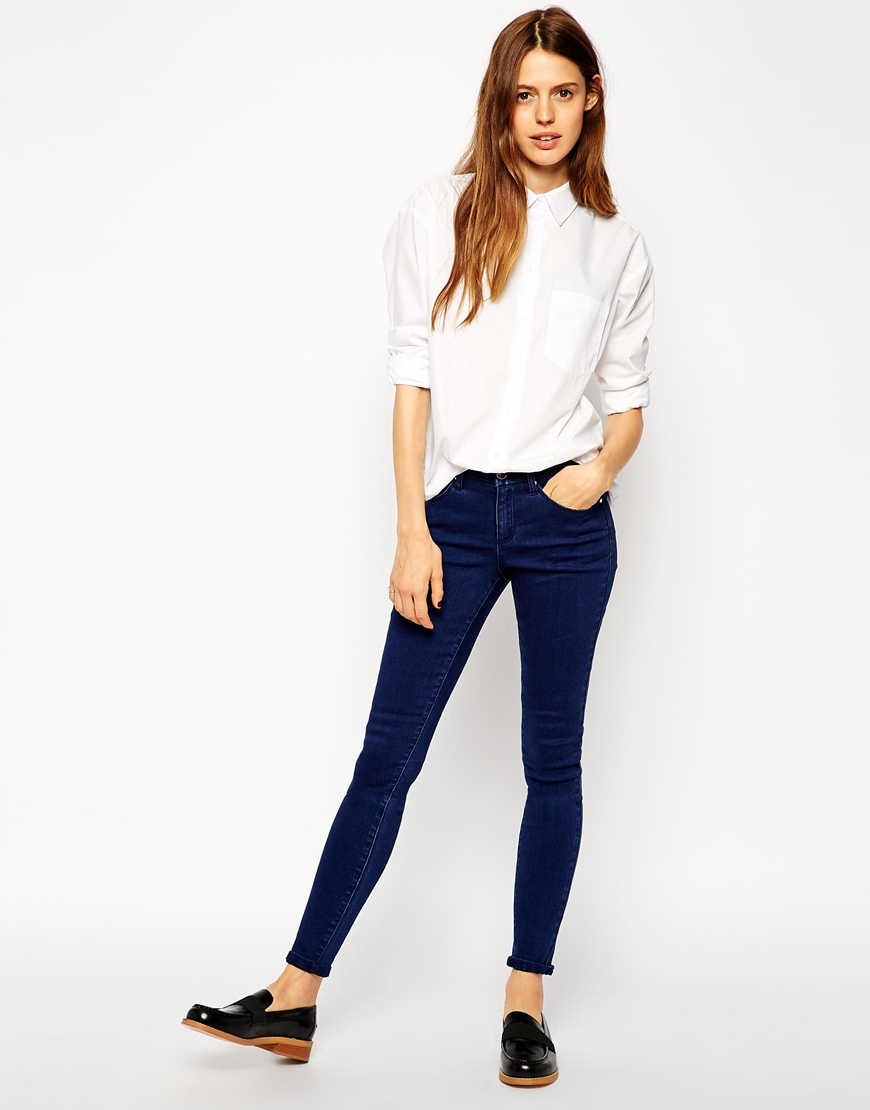 Asos slim boyfriend white shirt with pleat detail back in for Slim and tall shirts