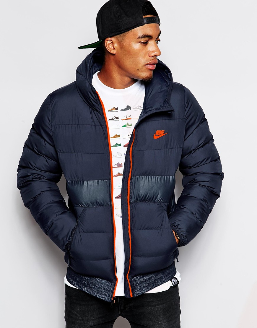 Nike Padded Jacket In Blue For Men Lyst