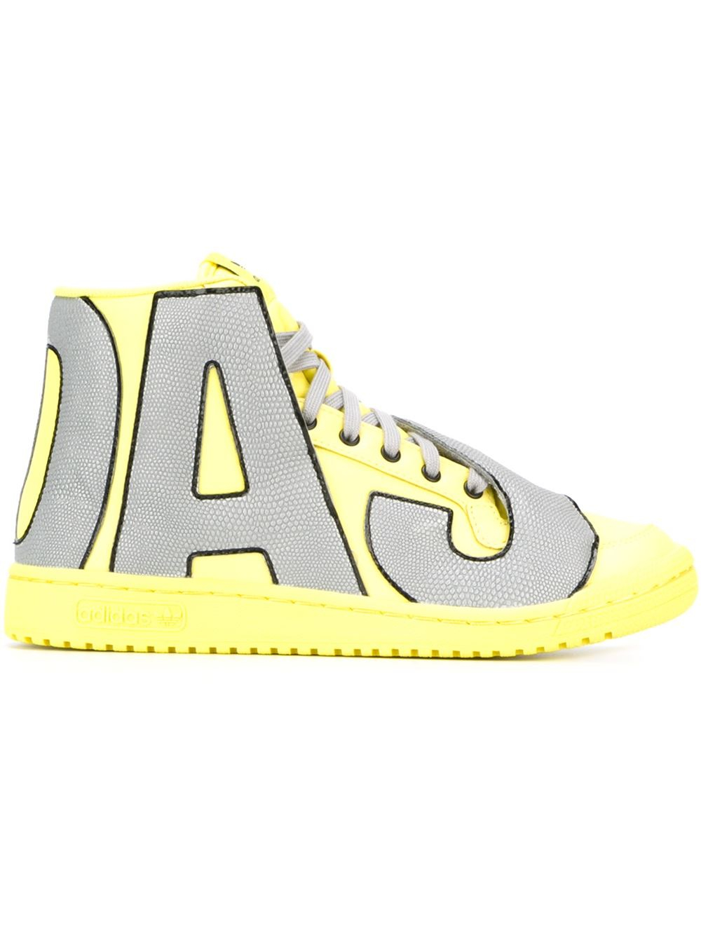8f85cc84a654 Lyst - adidas Originals Jeremy Scott X  letters Reflective  Hi-top ...