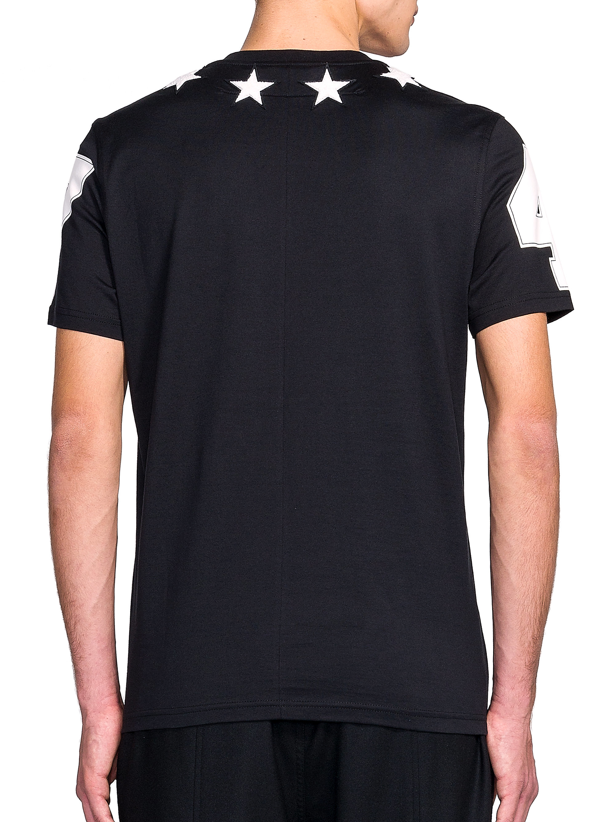 Givenchy star neck tee in black for men lyst for Givenchy 5 star shirt